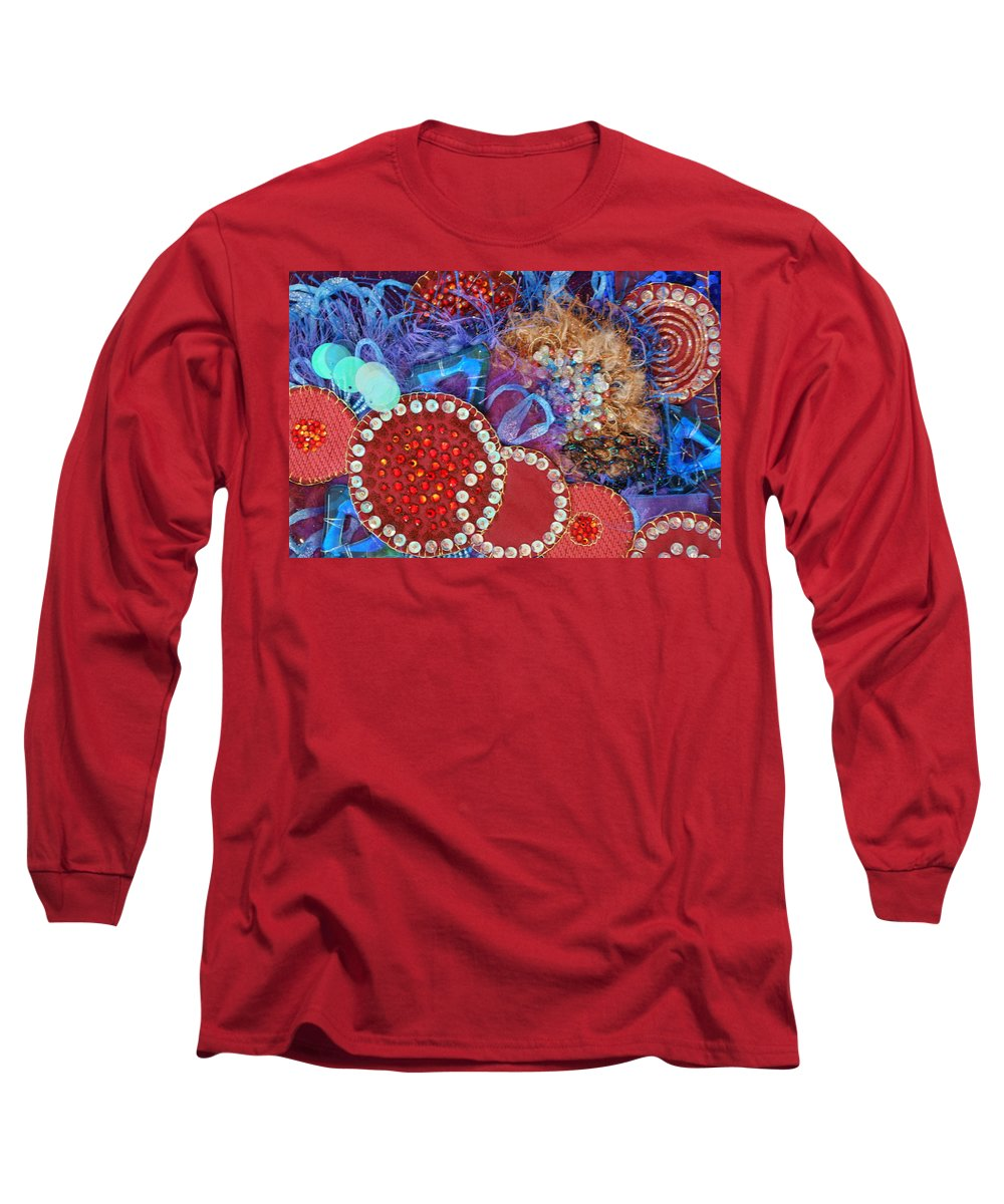 Long Sleeve T-Shirt featuring the mixed media Ruby Slippers 3 by Judy Henninger