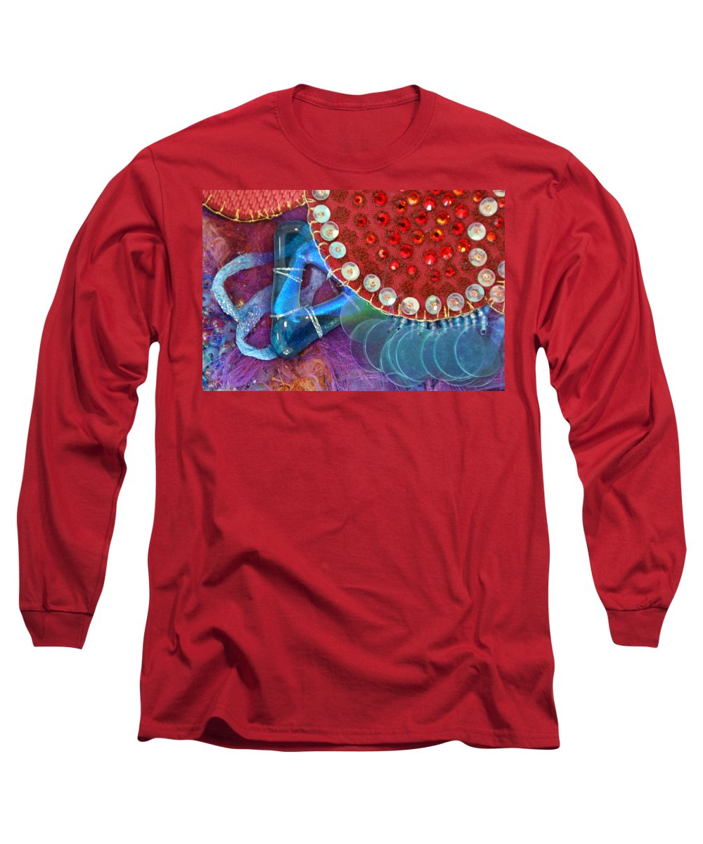 Long Sleeve T-Shirt featuring the mixed media Ruby Slippers 4 by Judy Henninger