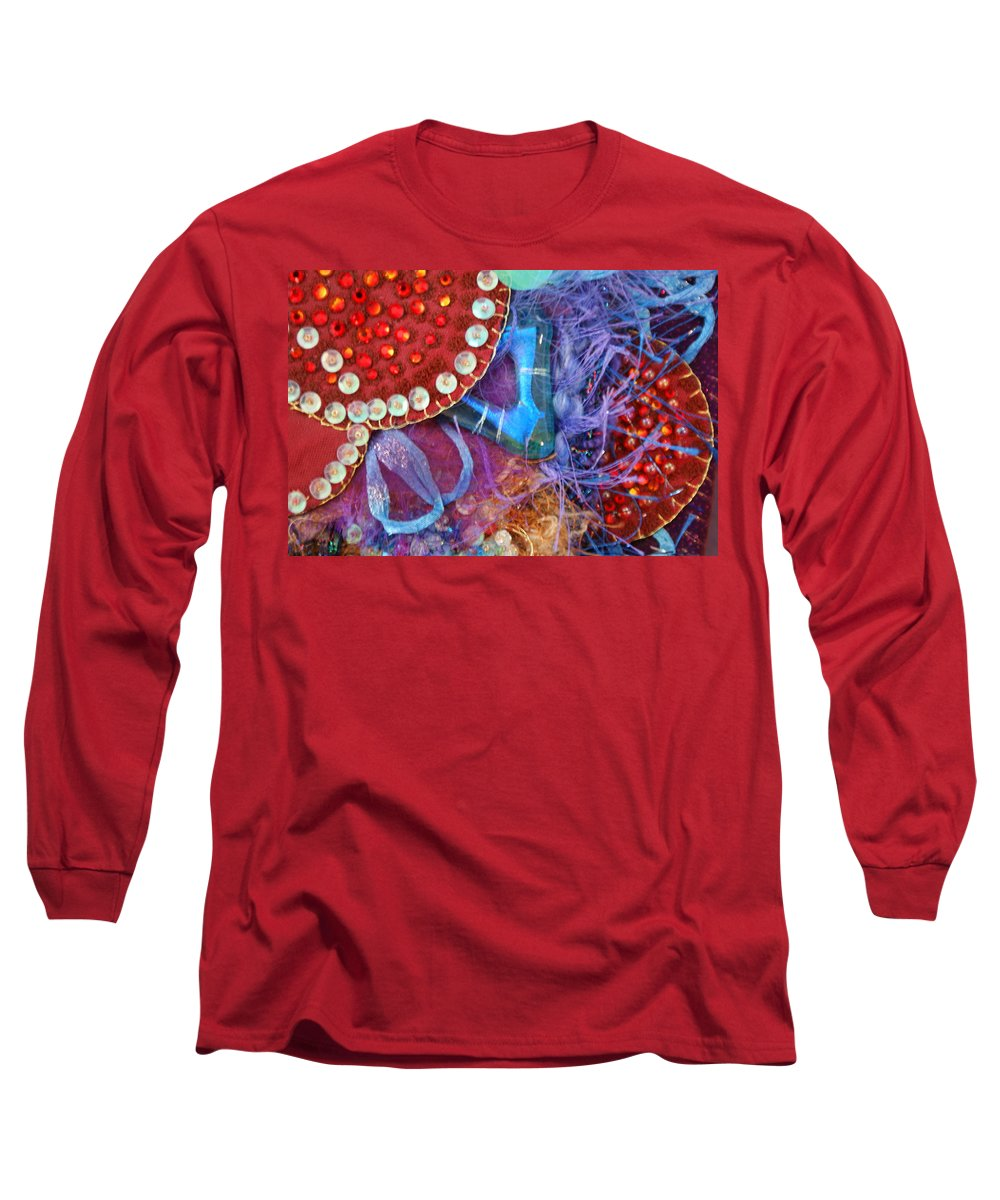 Long Sleeve T-Shirt featuring the mixed media Ruby Slippers 7 by Judy Henninger