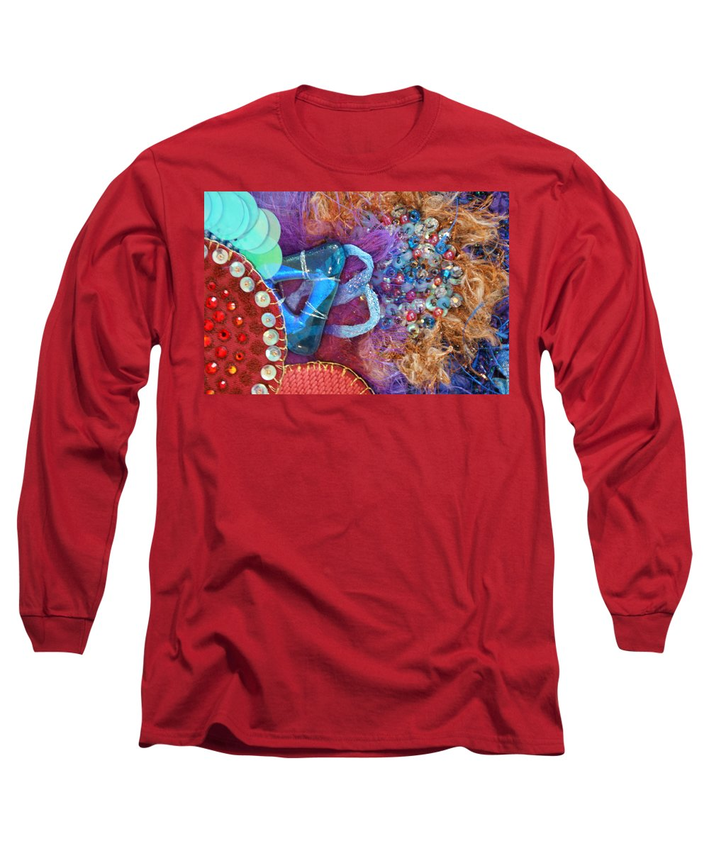 Long Sleeve T-Shirt featuring the mixed media Ruby Slippers 8 by Judy Henninger