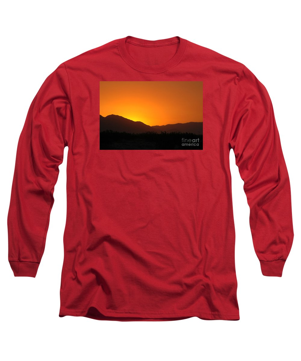 Sunset Long Sleeve T-Shirt featuring the photograph San Jacinto Dusk Near Palm Springs by Michael Ziegler