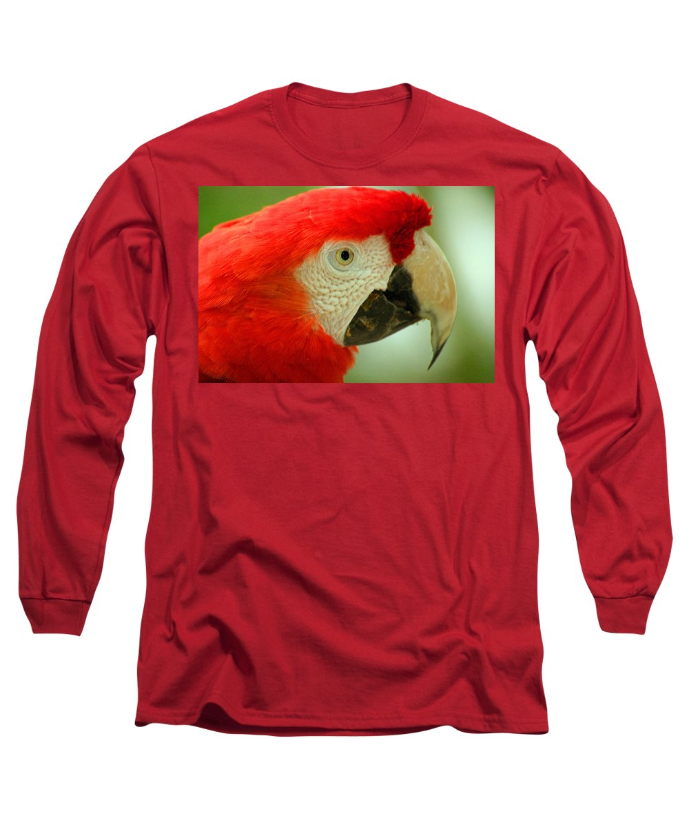 Parrot Long Sleeve T-Shirt featuring the photograph Scarlett Macaw South America by Ralph A Ledergerber-Photography
