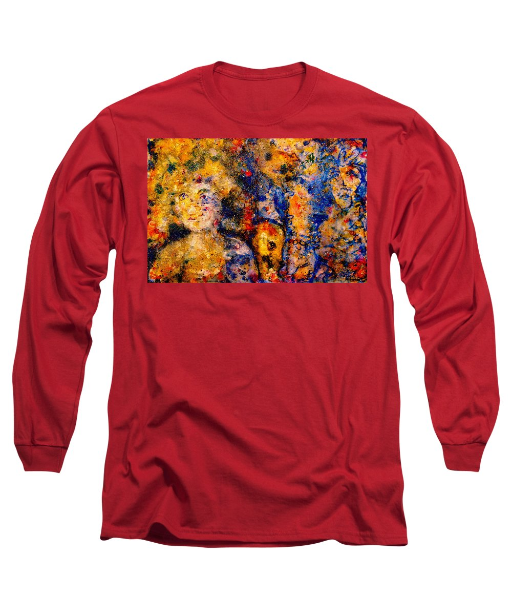 Expressionism Long Sleeve T-Shirt featuring the painting Seeking Wanderers by Natalie Holland