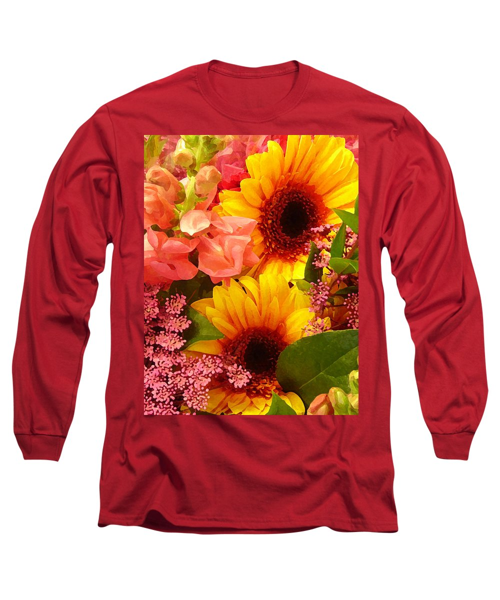 Roses Long Sleeve T-Shirt featuring the photograph Spring Bouquet 1 by Amy Vangsgard