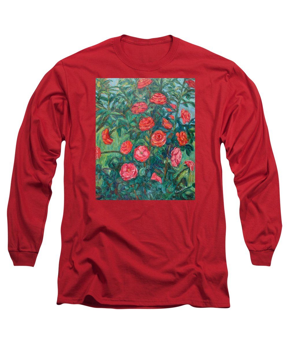 Rose Long Sleeve T-Shirt featuring the painting Spring Roses by Kendall Kessler