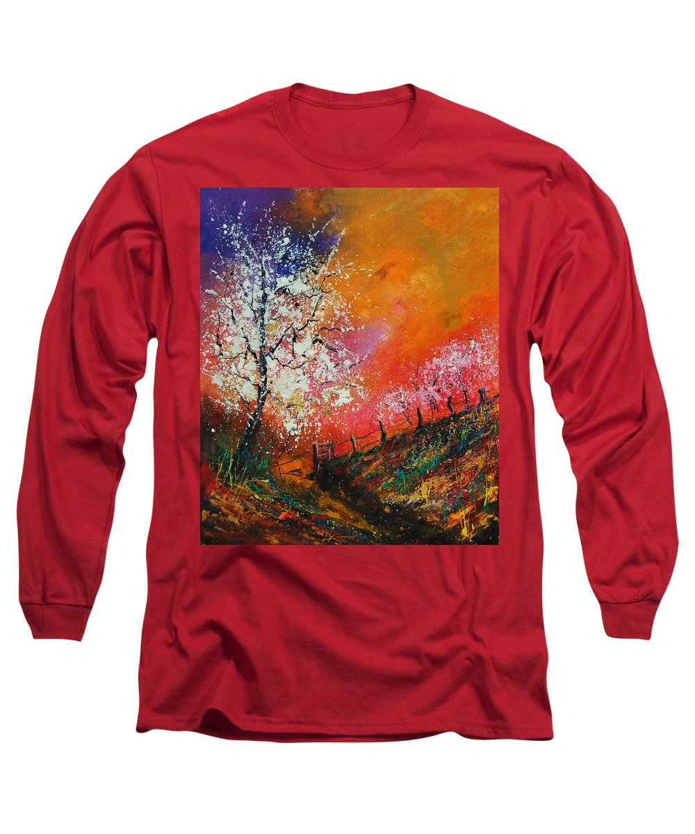 Spring Long Sleeve T-Shirt featuring the painting Spring Today by Pol Ledent