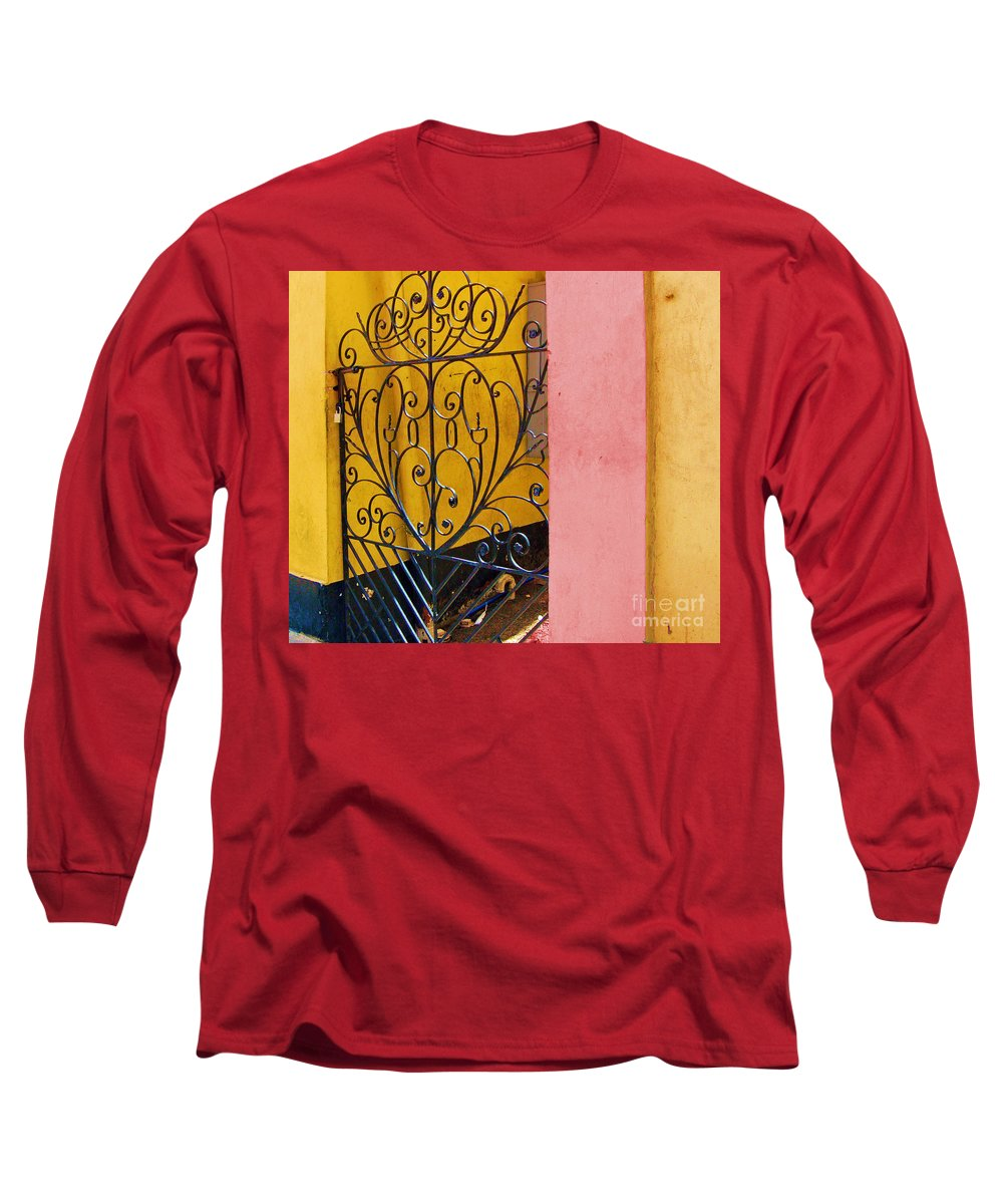 Gate Long Sleeve T-Shirt featuring the photograph St. Thomas Gate by Debbi Granruth