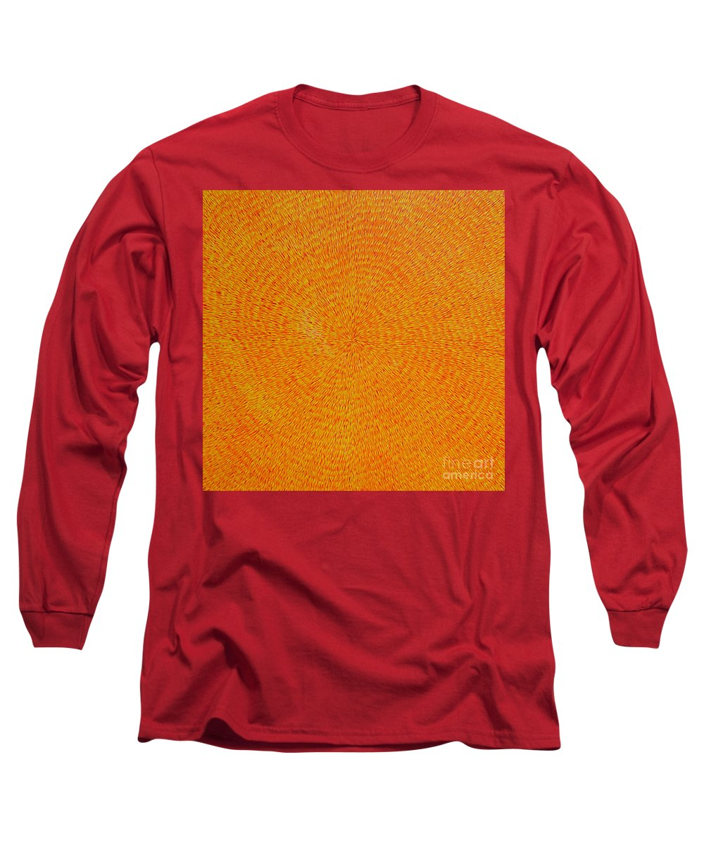 Abstract Long Sleeve T-Shirt featuring the painting Su Gaia by Dean Triolo