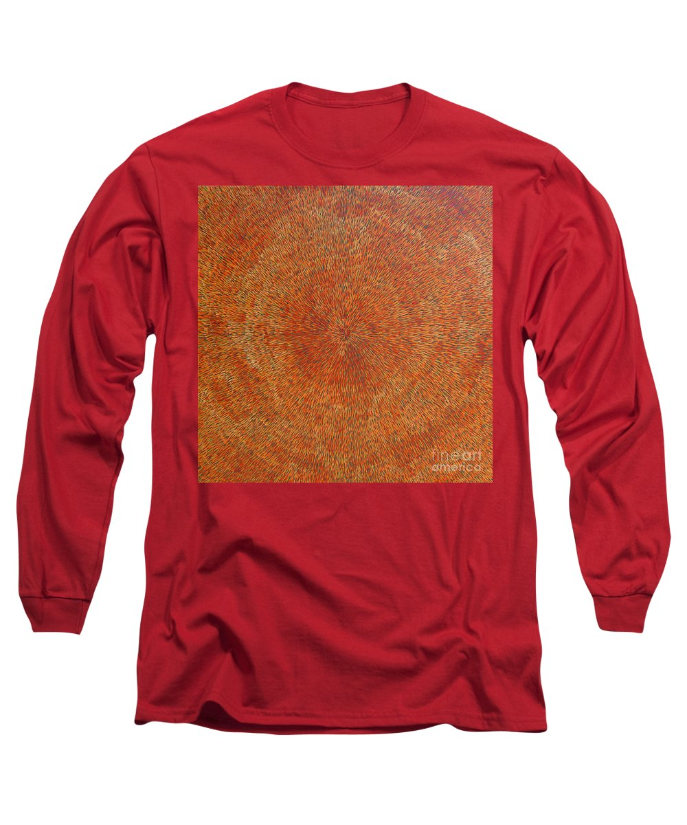 Abstract Long Sleeve T-Shirt featuring the painting Su Gaia Earth by Dean Triolo