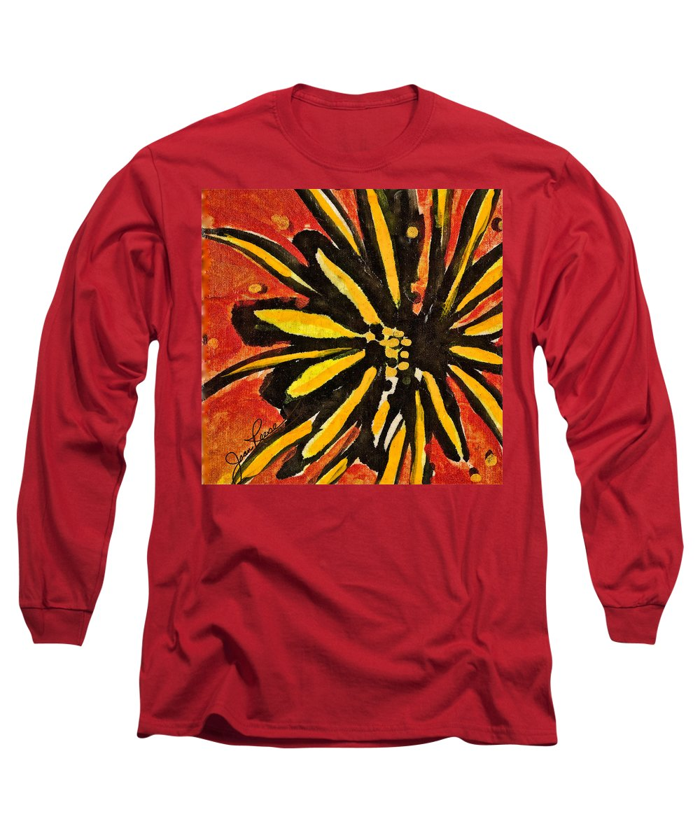 Flower Long Sleeve T-Shirt featuring the painting Sunny Hues Watercolor by Joan Reese