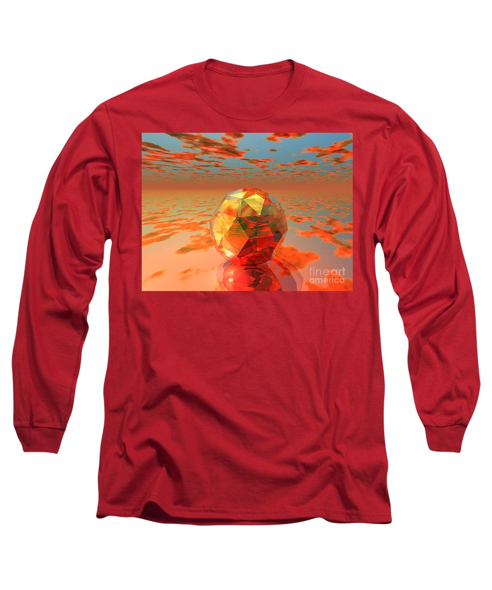 Surreal Long Sleeve T-Shirt featuring the digital art Surreal Dawn by Oscar Basurto Carbonell