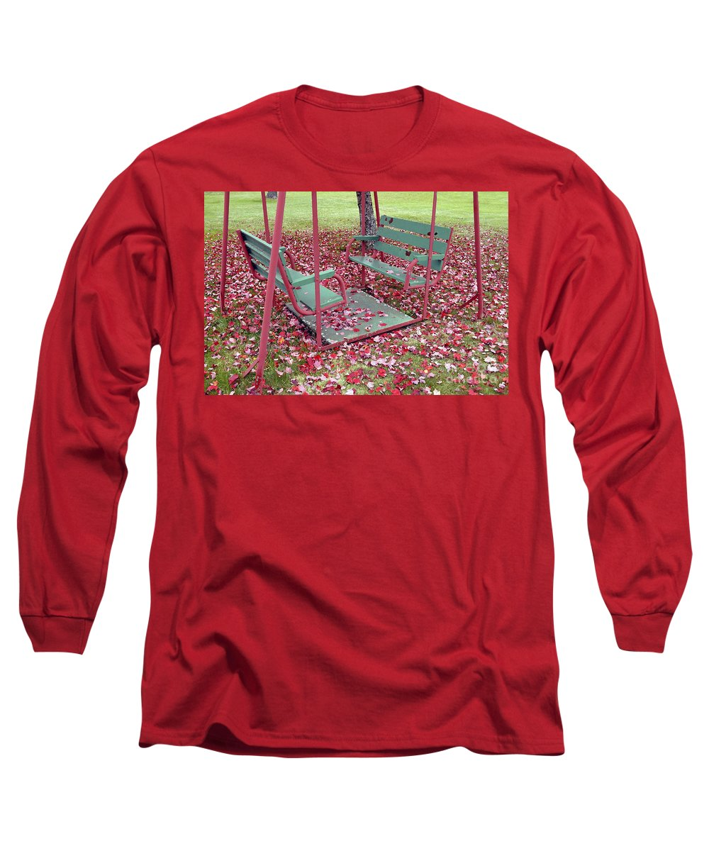 Swing Set Long Sleeve T-Shirt featuring the photograph Swing Set by David Lee Thompson