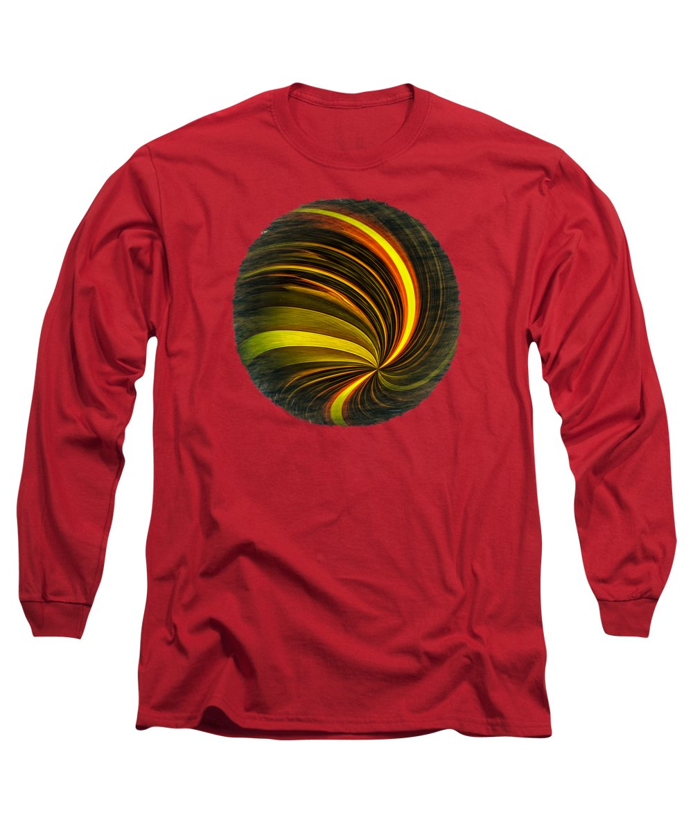 Abstract Long Sleeve T-Shirt featuring the photograph Swirls And Curls by John M Bailey
