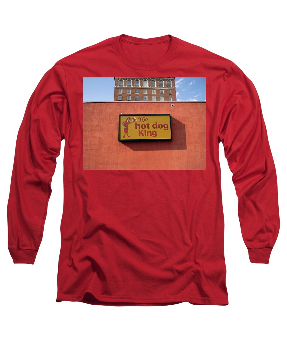 Hot Dog King Long Sleeve T-Shirt featuring the photograph The Hot Dog King by Flavia Westerwelle
