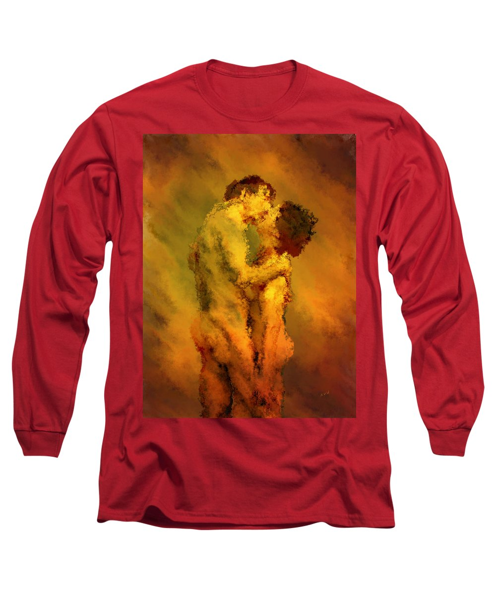 Nudes Long Sleeve T-Shirt featuring the photograph The Kiss by Kurt Van Wagner