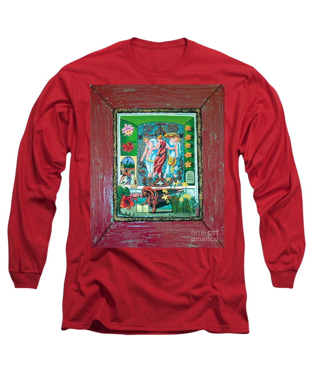 Women Long Sleeve T-Shirt featuring the painting The Three Sisters by Genevieve Esson