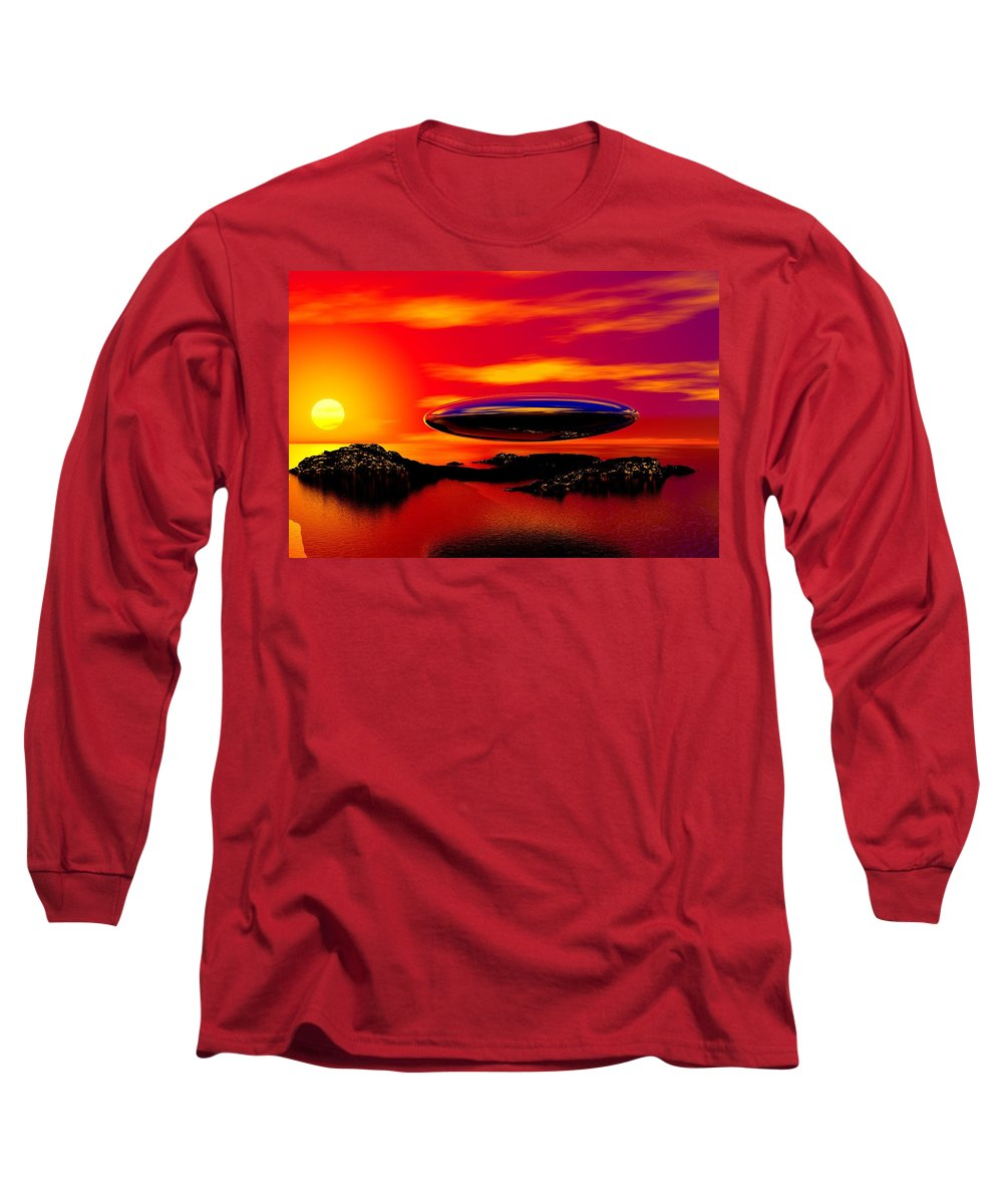 T Long Sleeve T-Shirt featuring the digital art The Visitor by David Lane