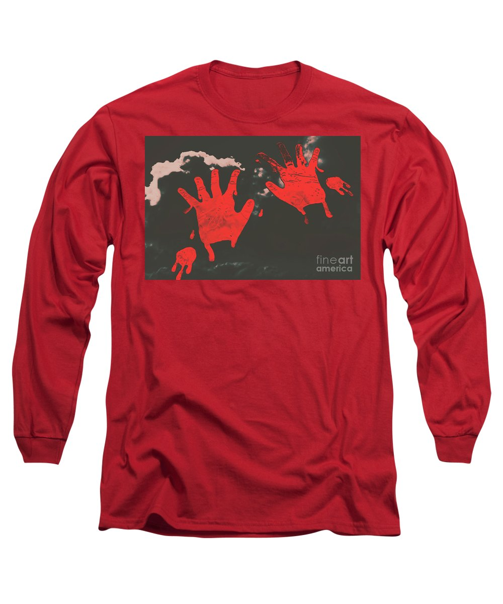 Murder Long Sleeve T-Shirt featuring the photograph Trace Of A Serial Killer by Jorgo Photography - Wall Art Gallery