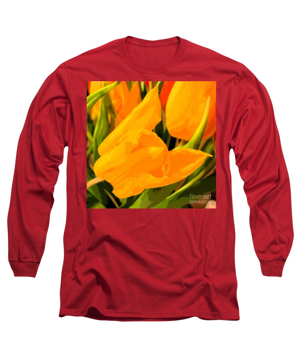 Tulip Long Sleeve T-Shirt featuring the photograph Tulips by Amanda Barcon