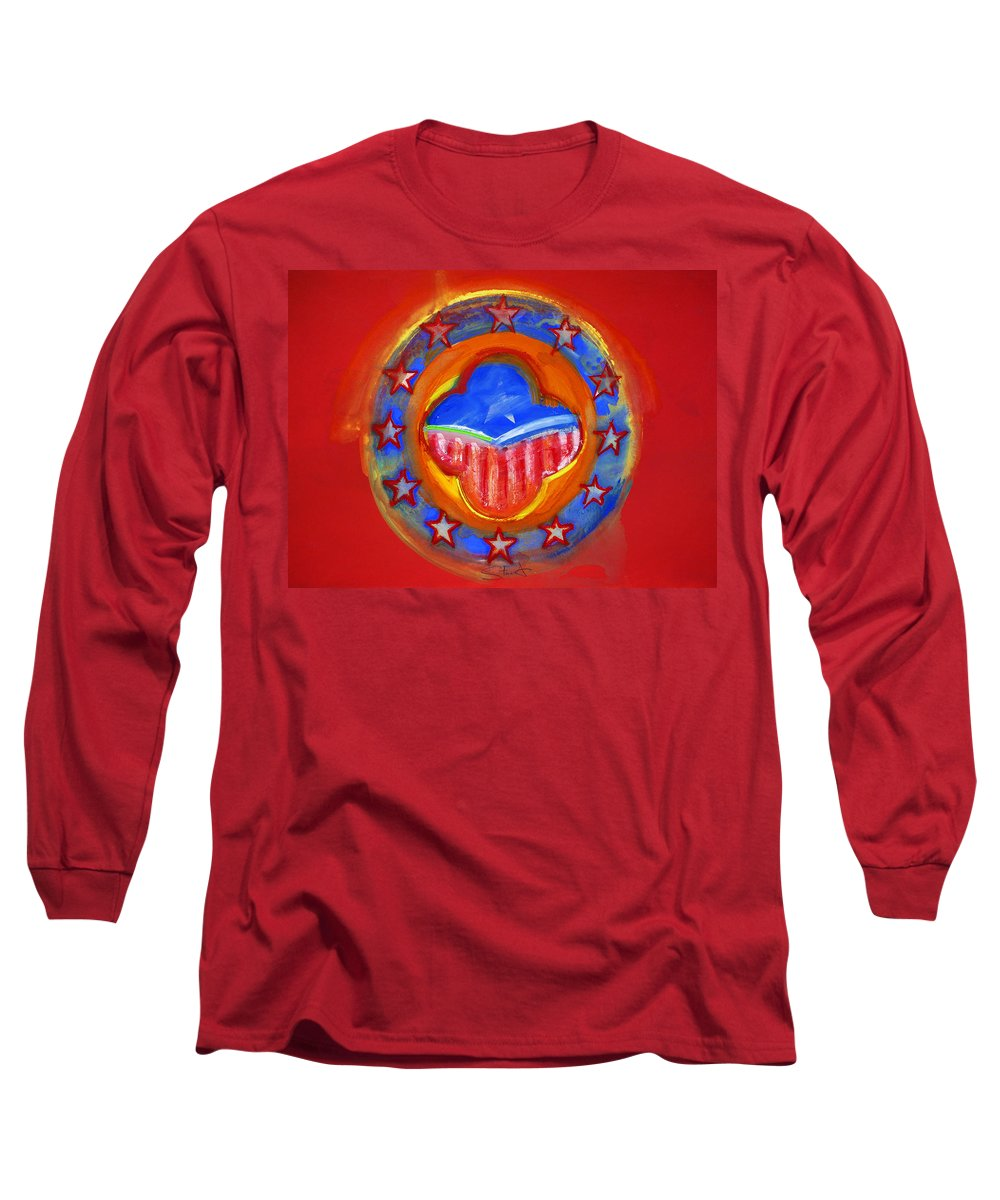 Symbol Long Sleeve T-Shirt featuring the painting United States Of Europe by Charles Stuart