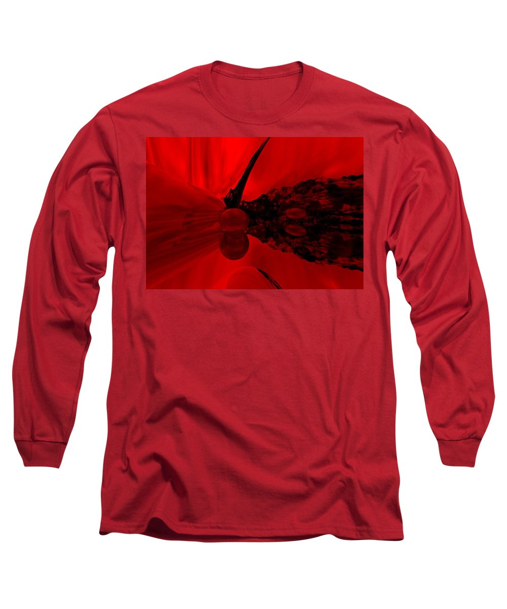 Abstract Long Sleeve T-Shirt featuring the digital art Untitled by David Lane