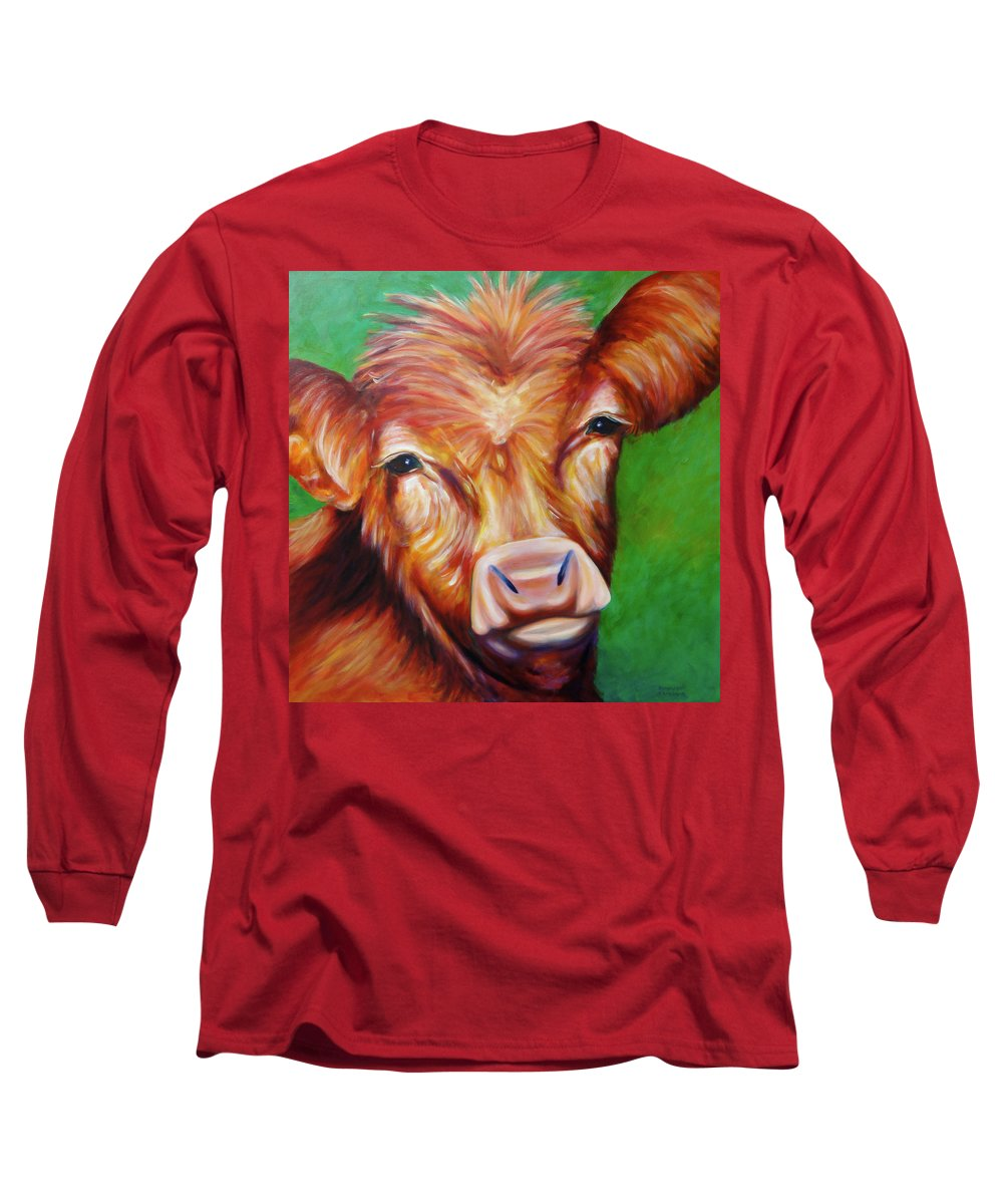 Bull Long Sleeve T-Shirt featuring the painting Van by Shannon Grissom