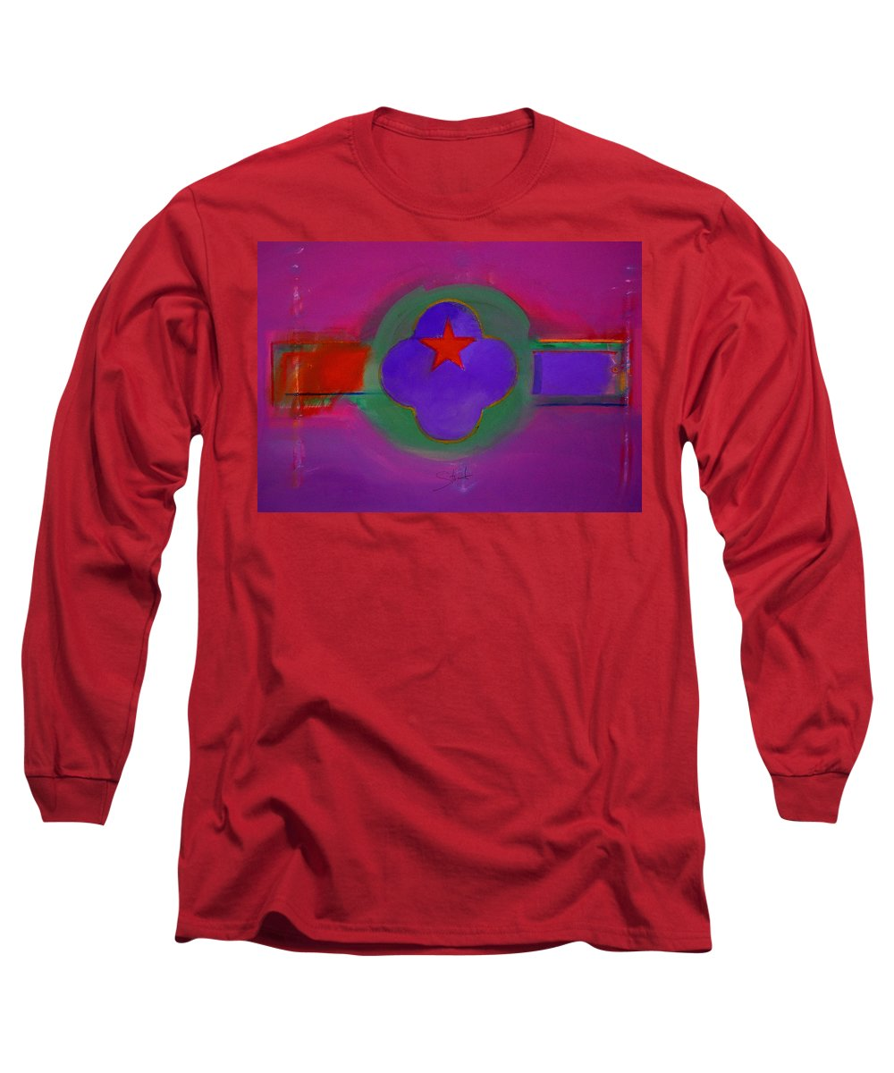 Star Long Sleeve T-Shirt featuring the painting Venice Spiritual by Charles Stuart