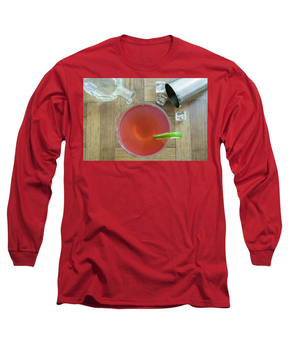 Alcohol Long Sleeve T-Shirt featuring the photograph Vintage Cosmopolitan Cocktail by Karen Foley