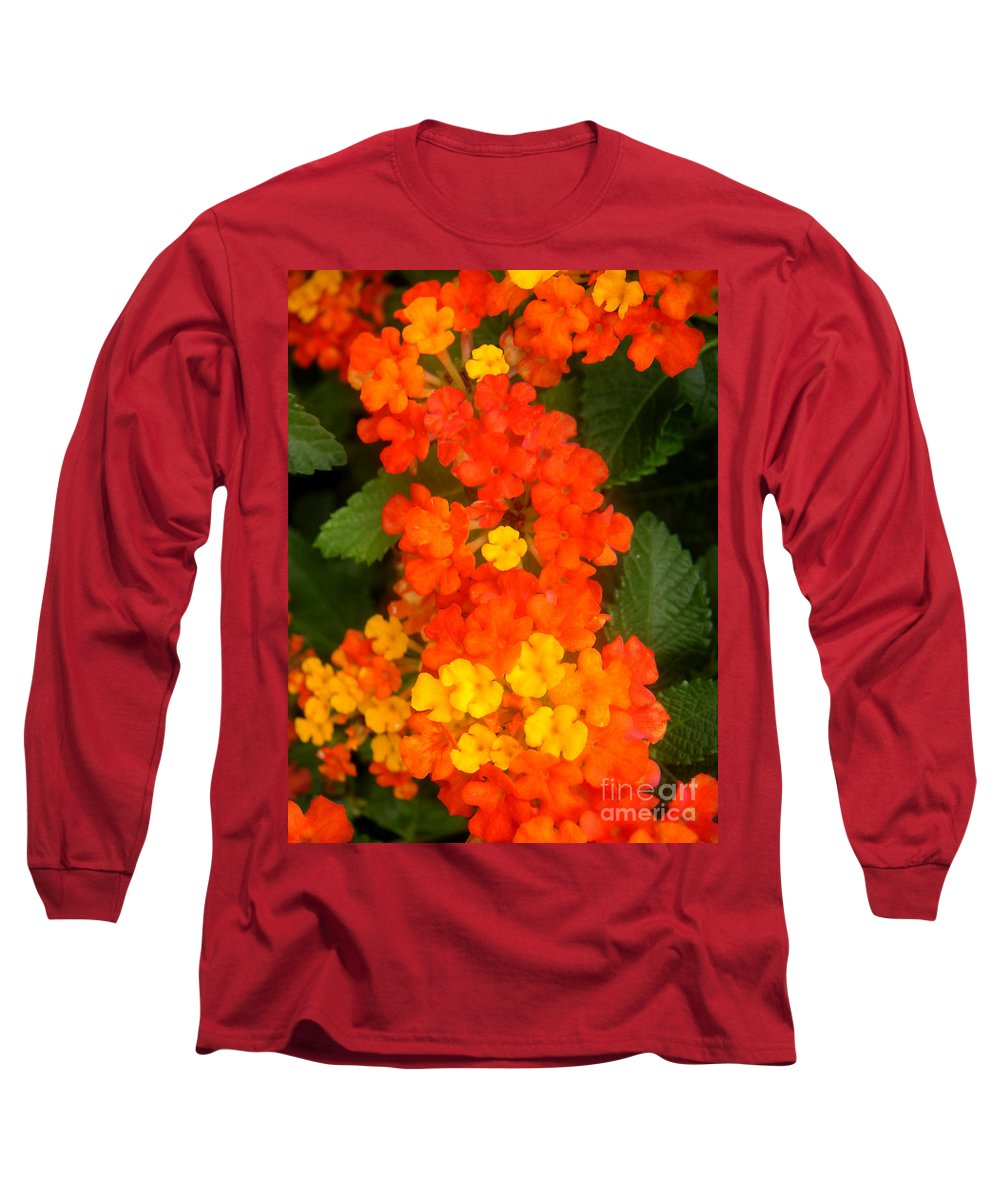 Nature Long Sleeve T-Shirt featuring the photograph Volcanic Display by Lucyna A M Green