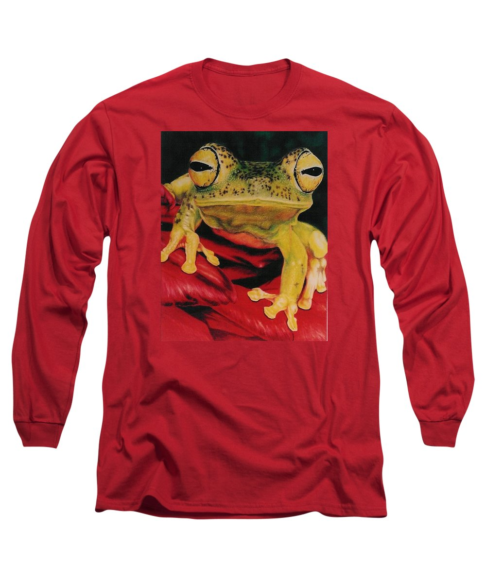 Art Long Sleeve T-Shirt featuring the drawing Who Loves Ya by Barbara Keith