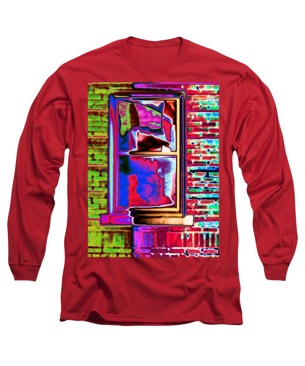Window Long Sleeve T-Shirt featuring the digital art Window 1 by Tim Allen
