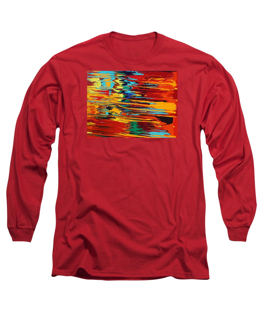 Fusionart Long Sleeve T-Shirt featuring the painting Zap by Ralph White