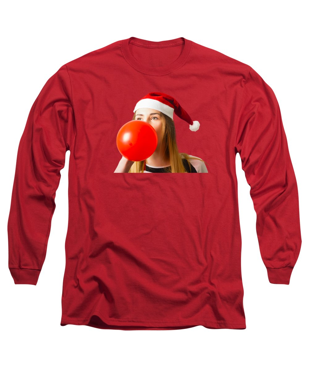 Santa Photographs Long Sleeve T-Shirts