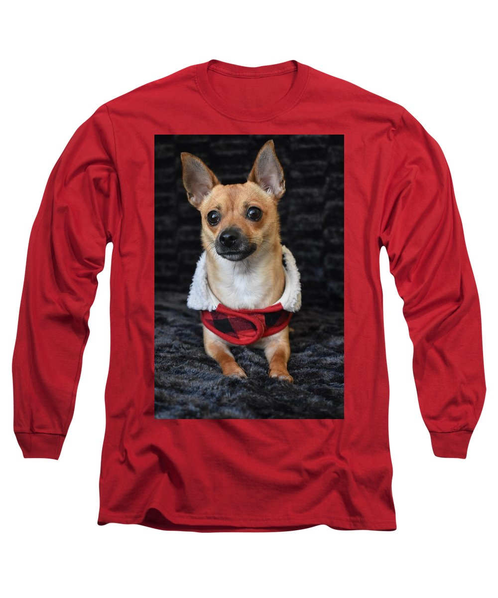 Chihuahua Dog Digital Art Long Sleeve T-Shirts