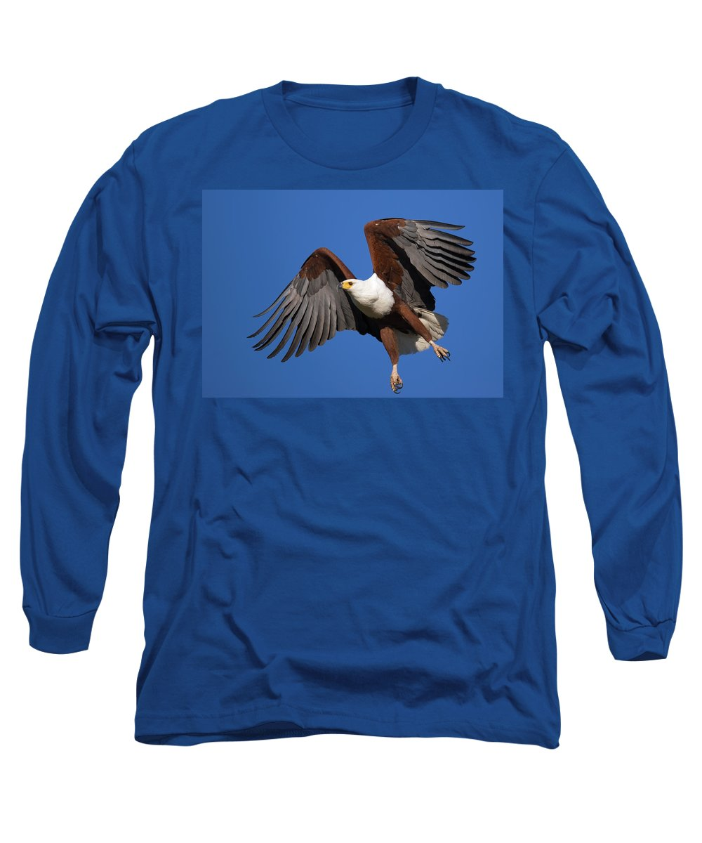 Eagle Long Sleeve T-Shirt featuring the photograph African Fish Eagle by Johan Swanepoel