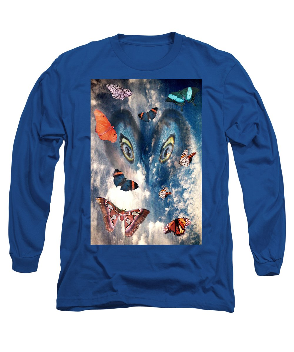 Air Long Sleeve T-Shirt featuring the digital art Air by Lisa Yount