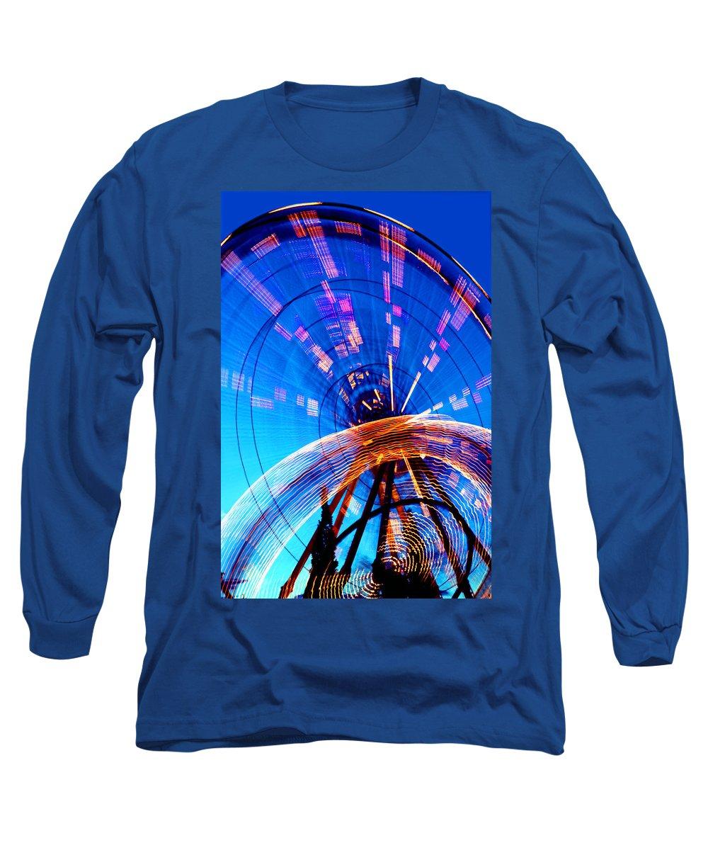 Amusement Park Long Sleeve T-Shirt featuring the photograph Amusement Park Rides 1 by Steve Ohlsen