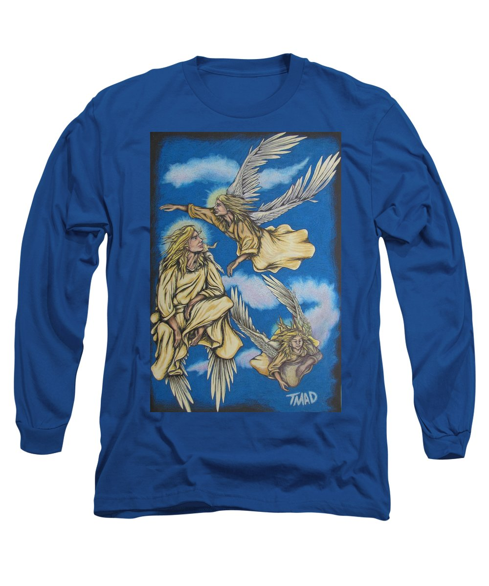 Michael Long Sleeve T-Shirt featuring the drawing Bliss by Michael TMAD Finney