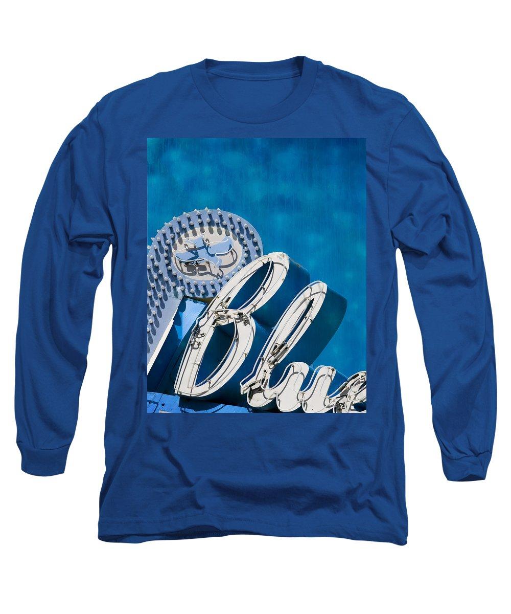 Blue Long Sleeve T-Shirt featuring the photograph Blue by Juli Scalzi