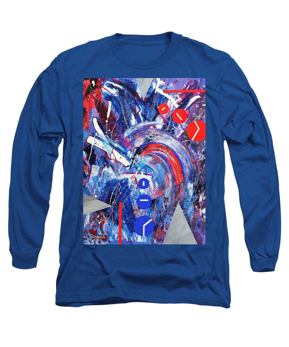 Abstract Long Sleeve T-Shirt featuring the painting Dream Run 2001 by RalphGM