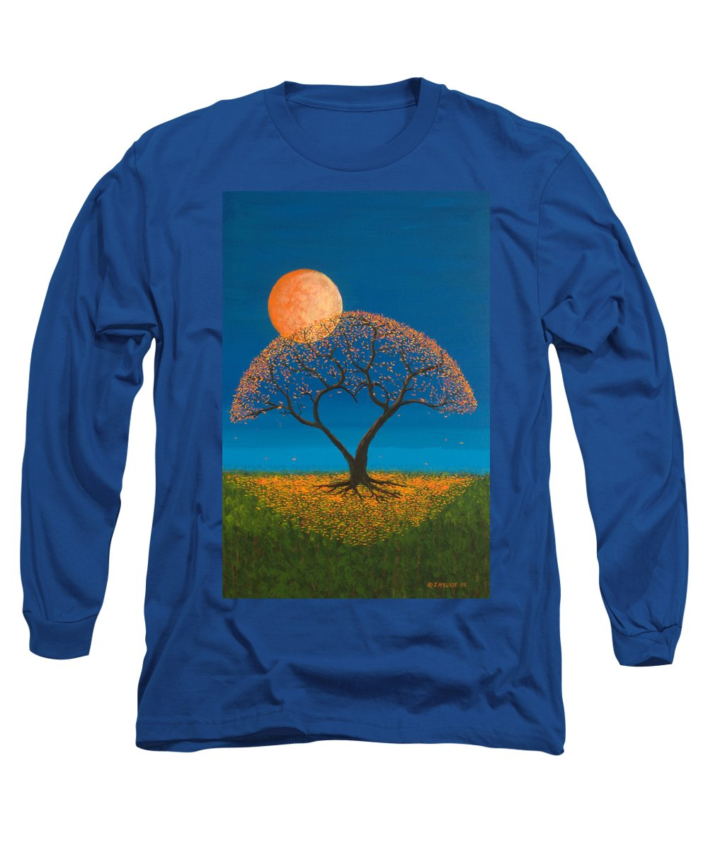 Love Long Sleeve T-Shirt featuring the painting Falling For You by Jerry McElroy