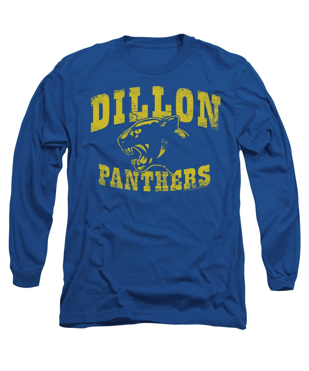 Friday Night Lights Long Sleeve T-Shirt featuring the digital art Friday Night Lts - Panthers by Brand A