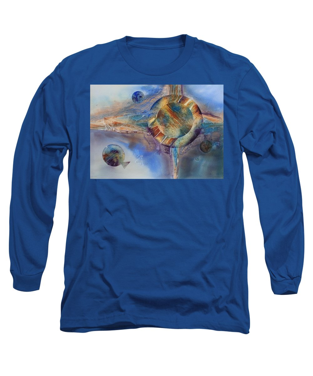 Spiritual Long Sleeve T-Shirt featuring the painting Heavens Gate by Tara Moorman