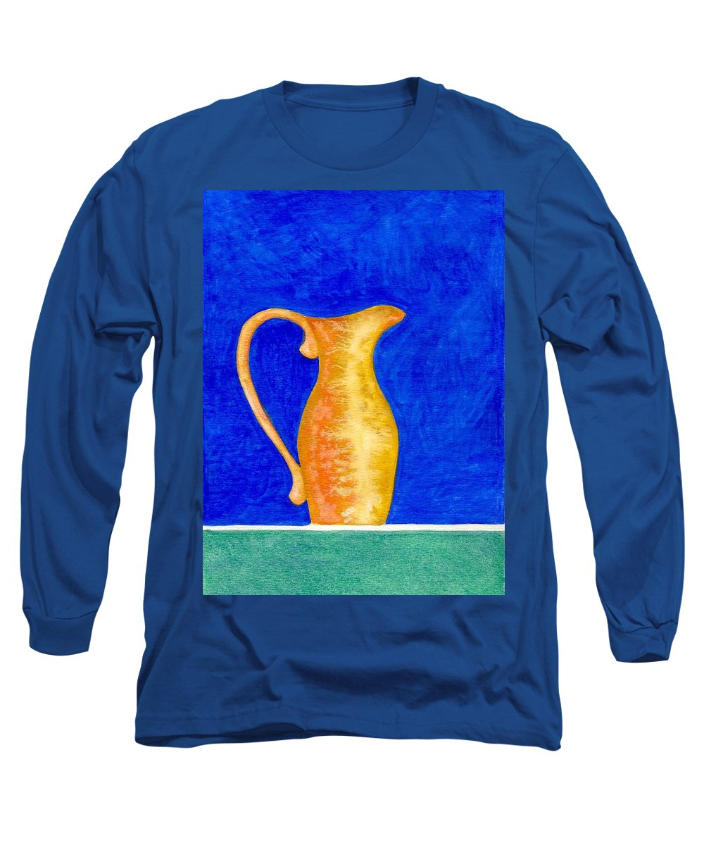 Still Life Long Sleeve T-Shirt featuring the painting Pitcher 2 by Micah Guenther