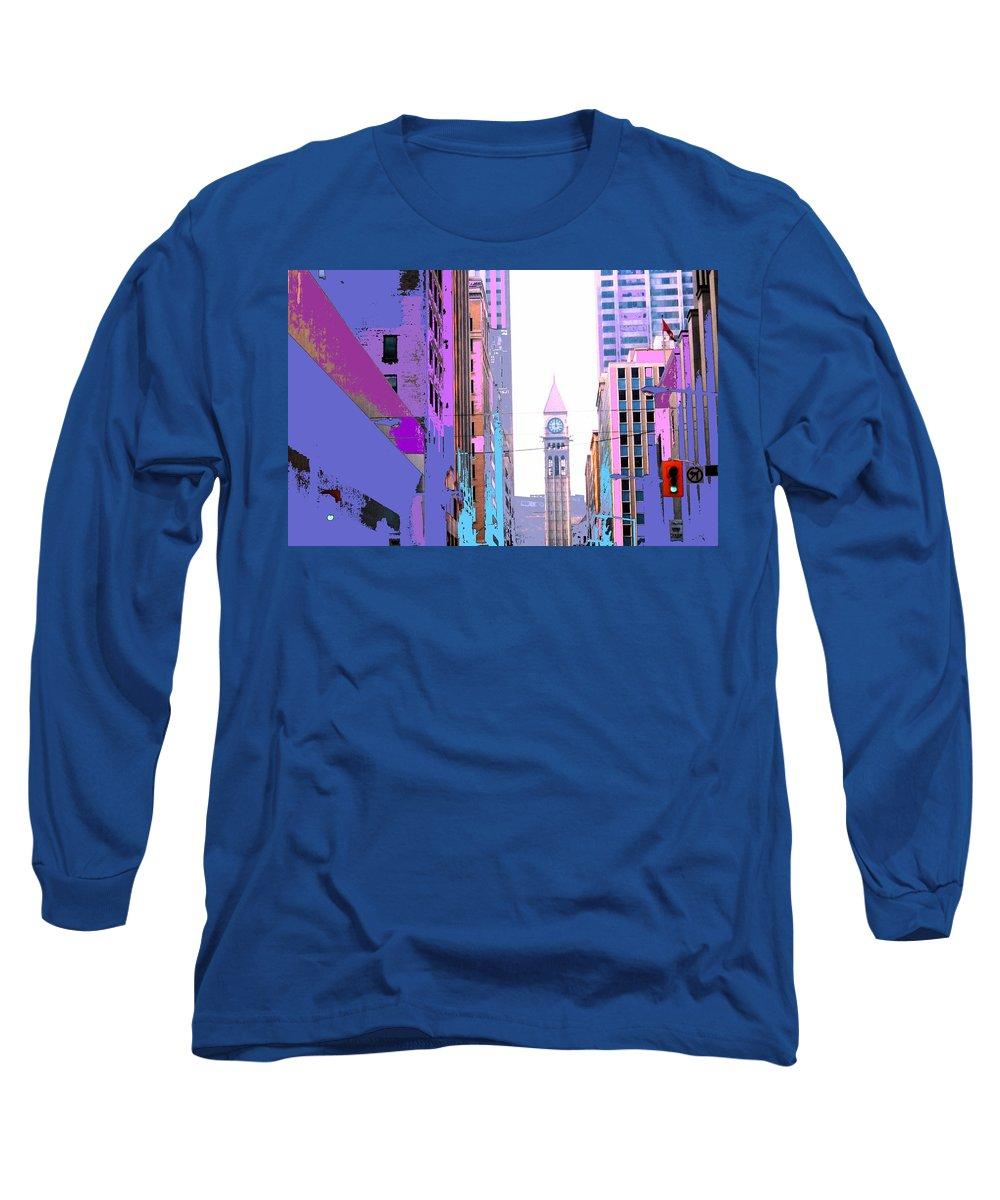 Bay Long Sleeve T-Shirt featuring the photograph Toronto Old City Hall by Ian MacDonald