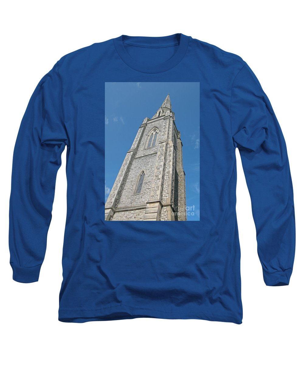 England Long Sleeve T-Shirt featuring the photograph Towering by Ann Horn