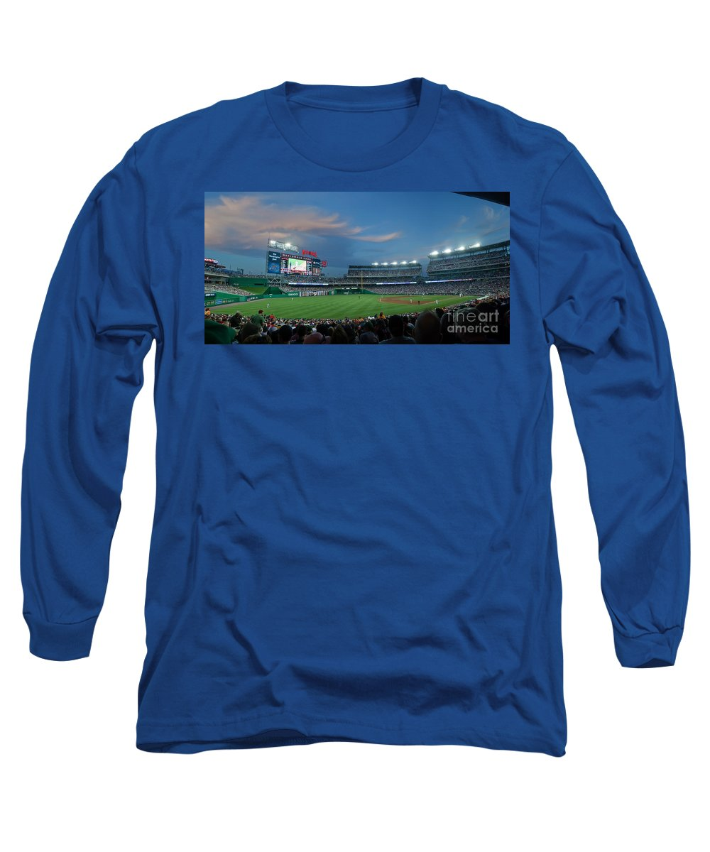 Red Sox Long Sleeve T-Shirt featuring the photograph Washington Nationals In Our Nations Capitol by Thomas Marchessault