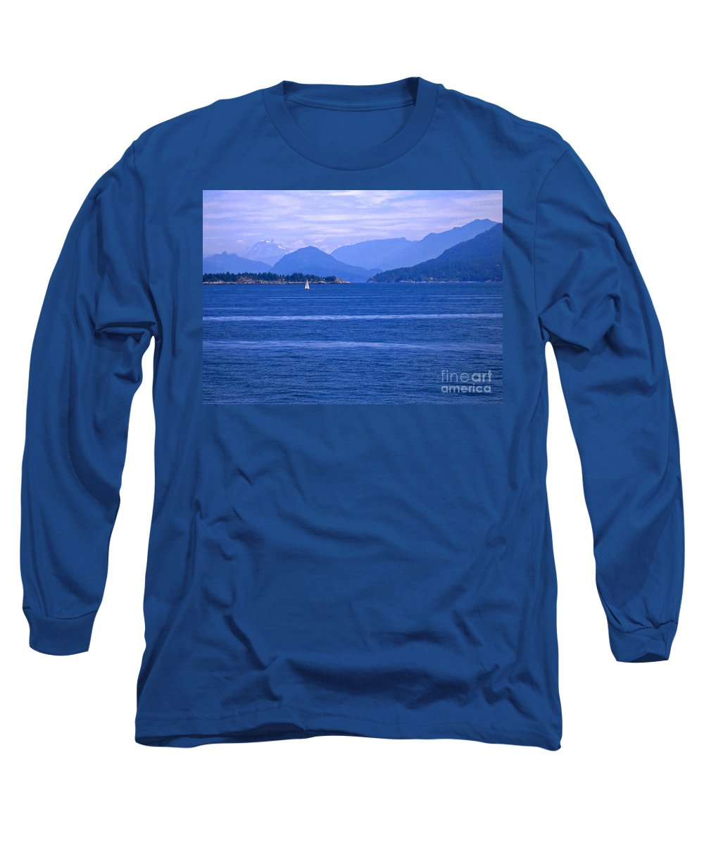 Sailboat Long Sleeve T-Shirt featuring the photograph Solitary Sailing by Ann Horn