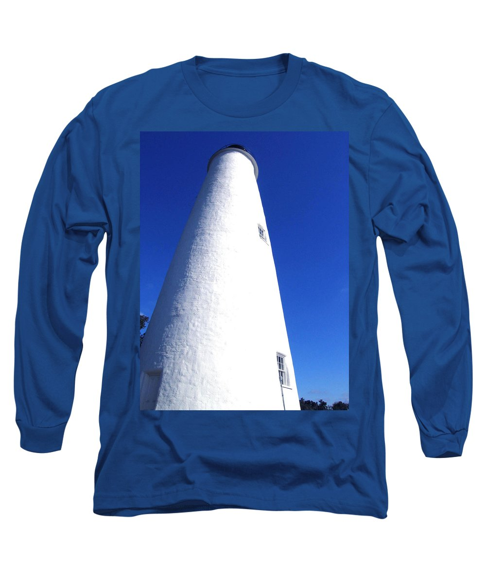 Ocracoke Long Sleeve T-Shirt featuring the photograph Ocracoke Island Light House by Wayne Potrafka