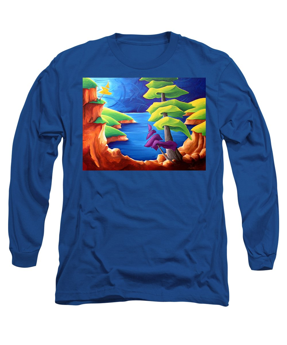 Landscape Long Sleeve T-Shirt featuring the painting A Moment In Time by Richard Hoedl